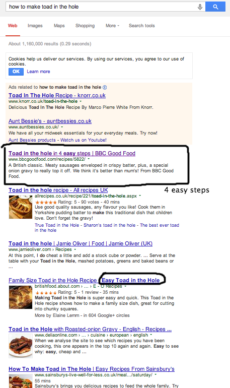 Toad In The Hole Search