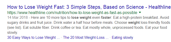 Lose Weight URL Example