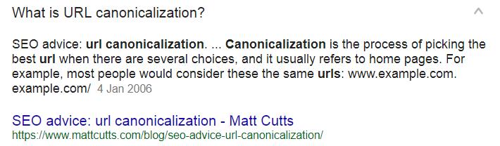 Canonicalisation Example